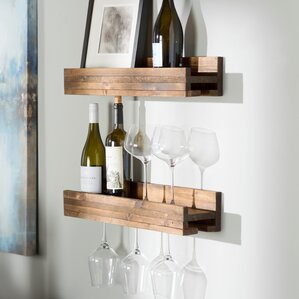 Tristen 5 Bottle Wall Mounted Wine Bottle Rack (Set of 2) by Loon Peak