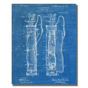 'Golf Bag' Graphic Art Print on Wrapped Canvas by Williston Forge