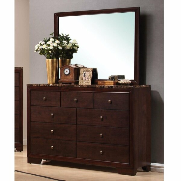 Orianna Elegant Bedroom 9 Drawer Dresser with Mirror by Red Barrel Studio