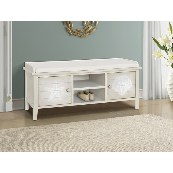 Grullon Wood Storage Bench by Highland Dunes