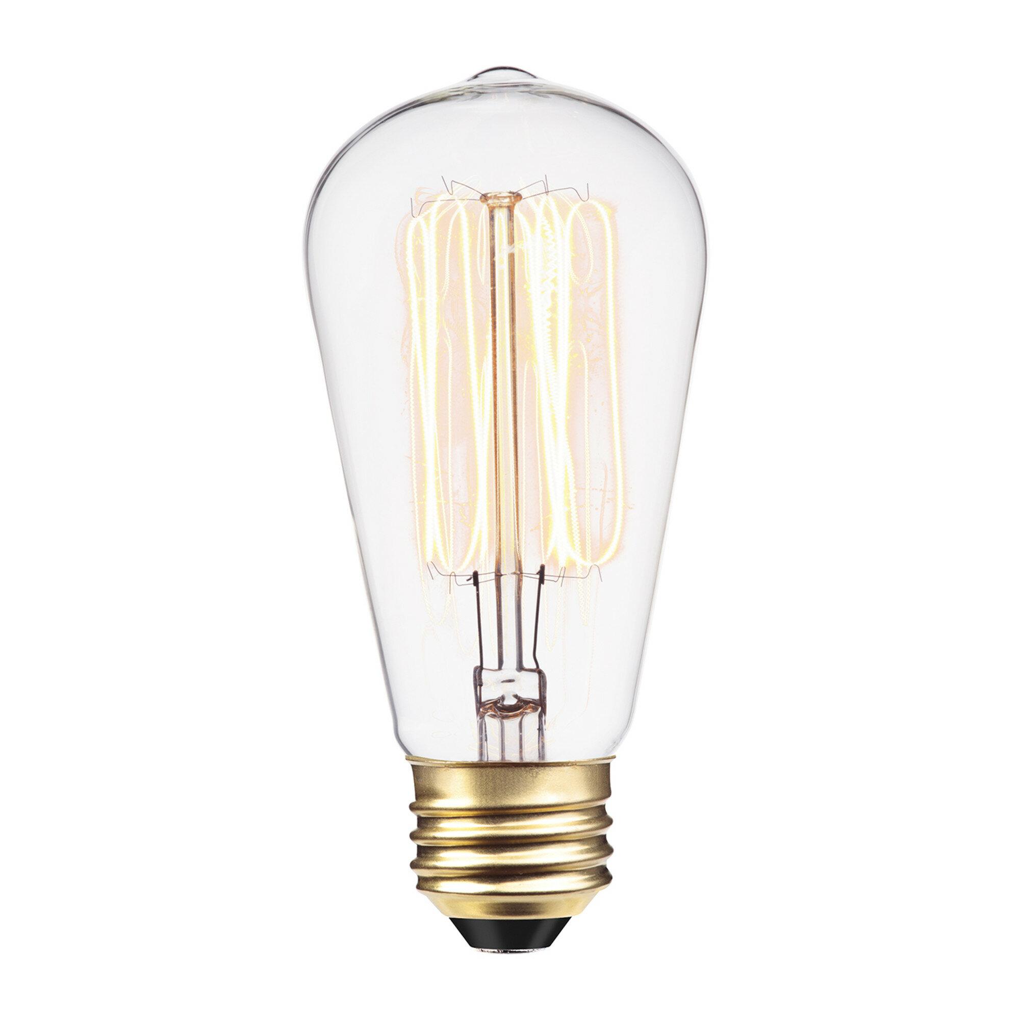 Simple Vintage A19 Edison Light Bulb E26 40W 120V Antique Retro Clear 4 pack