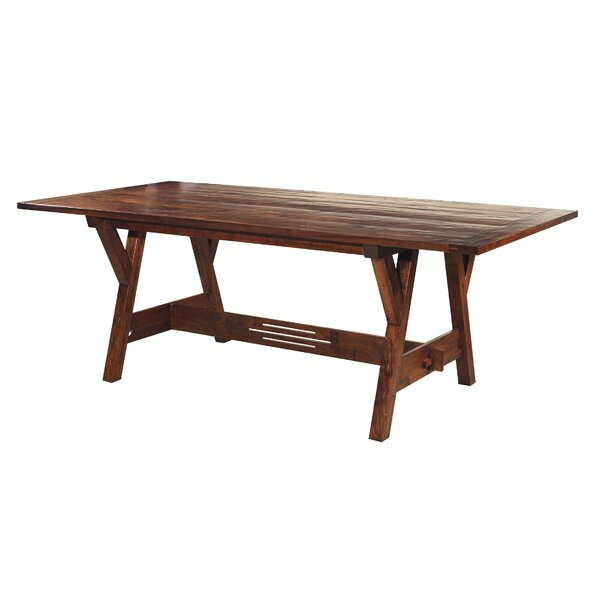 Bargain Trestle Dining Table By MacKenzie-Dow No Copoun