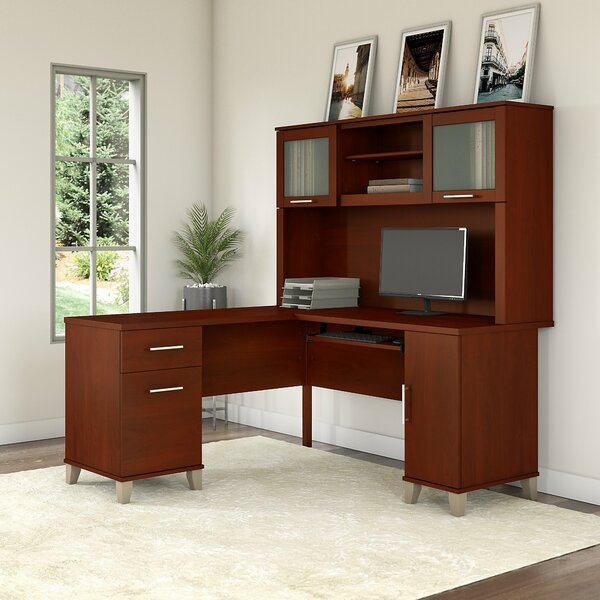 Kittle Reversible L-Shape Executive Desk with Hutch