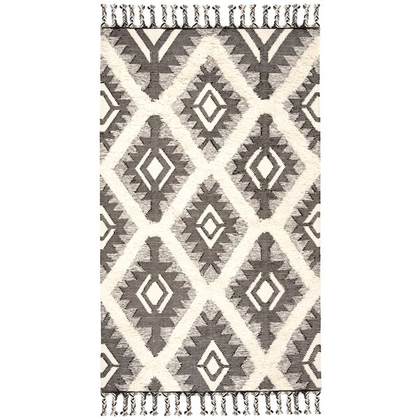 Cedarvale Hand-Knotted Brown/Ivory Area Rug by Foundry Select