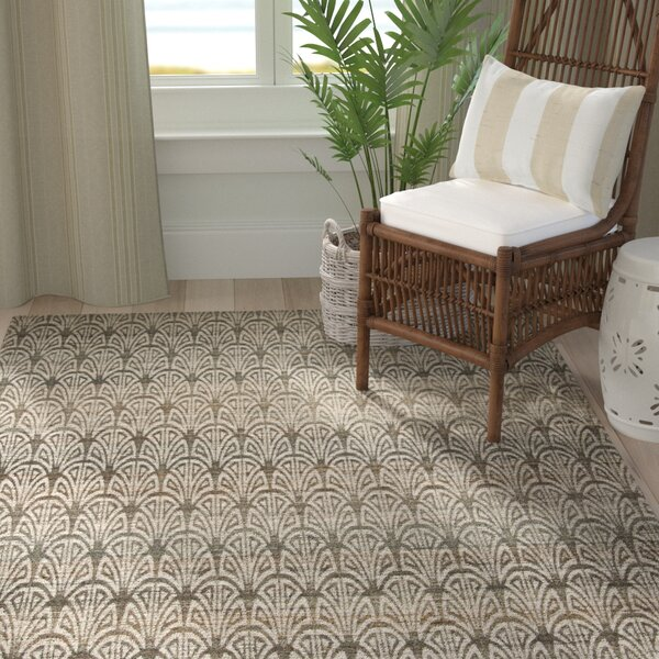 Abia Hand-Woven Light Beige Area Rug by Highland Dunes