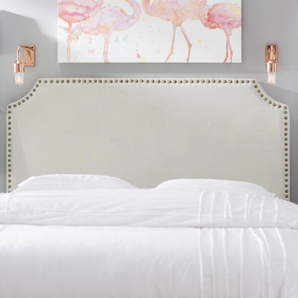 Luna Upholstered Panel Headboard by Mercury Row