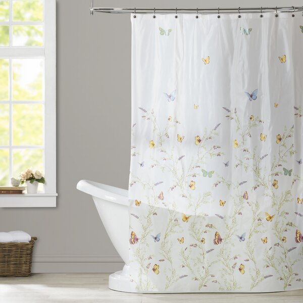 Rohde Garden Flight PEVA Shower Curtain by August Grove
