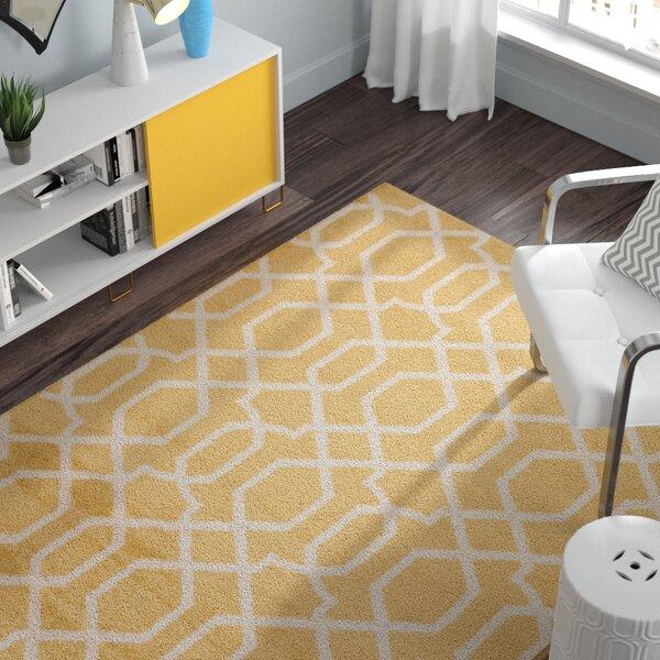 Ryann Yellow Area Rug by Zipcode Design