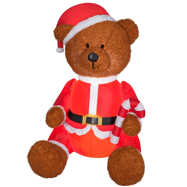 Mixed Texture Teddy Bear Inflatable by The Holiday Aisle