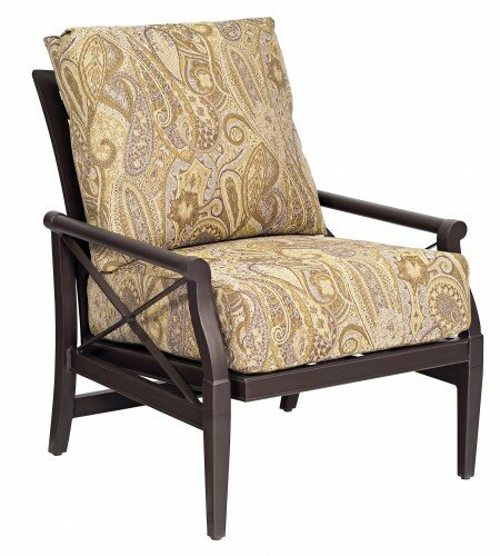 Andover Rocking Patio Chair with Cushions by Woodard