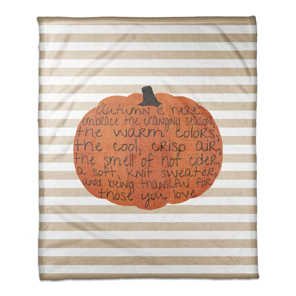 Embrace Autumn Coral Fleece Throw by The Holiday Aisle