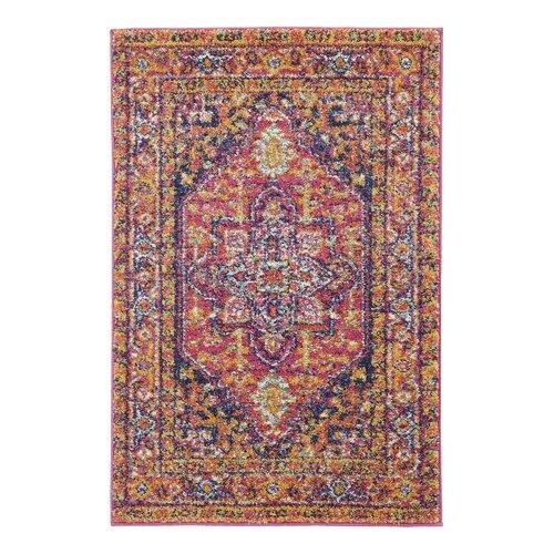 Handgetufteter Teppich Barksdale in Rot/Blau BohoLiving Teppichgröße: Rechteckig 122 x 183 cm | Heimtextilien > Teppiche > Sonstige-Teppiche | BohoLiving