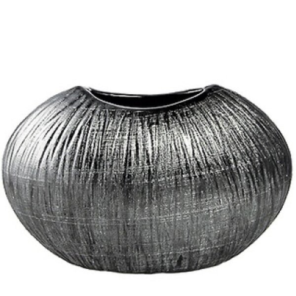Silver Ceramic Table Vase by Wrought Studio