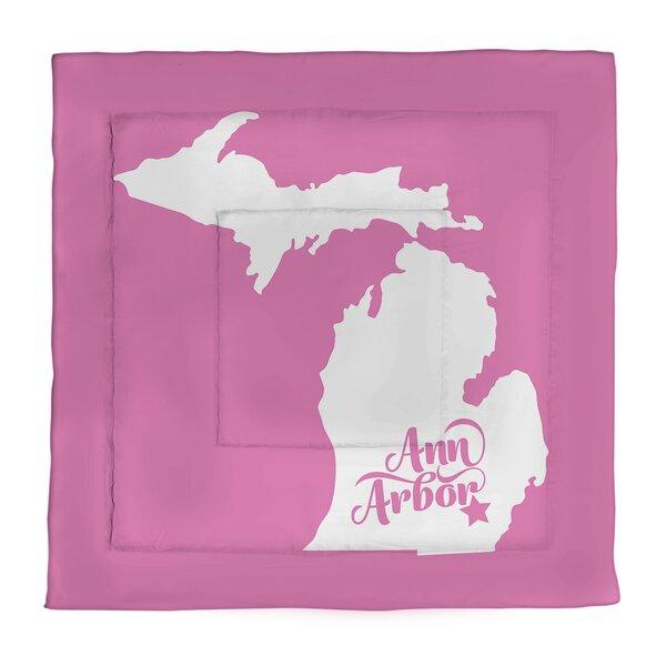 Ann Arbor Michigan Single Reversible Comforter