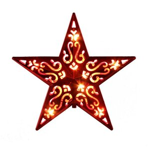 lighted cut out design decorative star christmas tree topper - Star Christmas Tree Topper
