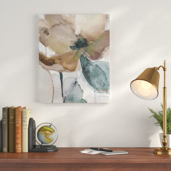 Watercolor Poppy I Painting Print On Wrapped Canvas By Charlton Home.