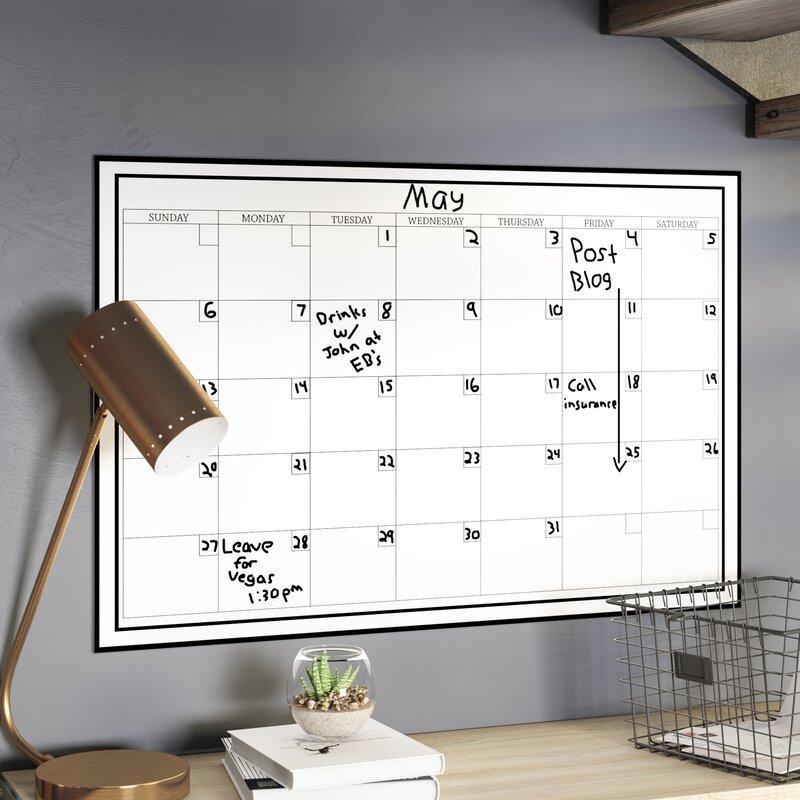 Calendar Whiteboard Wall Decal