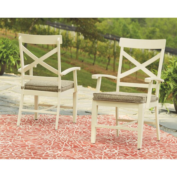 Farzana Patio Dining Chair with Cushion (Set of 2) by Gracie Oaks