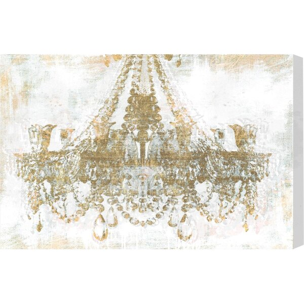 Gold Diamonds Classic Art Wrapped Canvas Print By Oliver Gal.