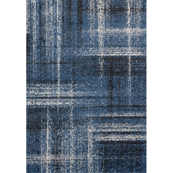 Holgate Midnight/Blue Area Rug by Williston Forge