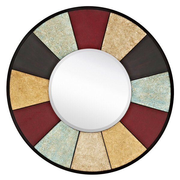 Colorful Hand Painted Disc Accent Mirror by Majestic Mirror