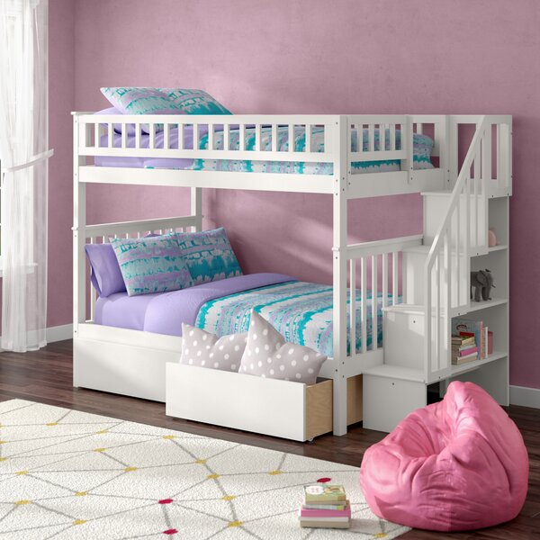 Shyann Full Over Full Bunk Bed with 2 Drawers by Viv + Rae