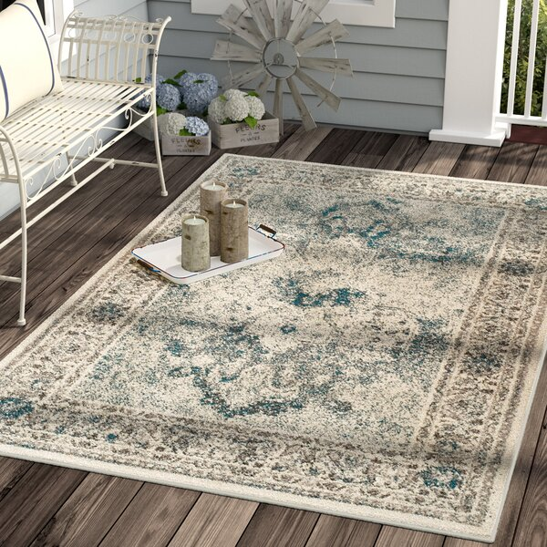 Keese Wool Beige Indoor/Outdoor Area Rug by Ophelia & Co.