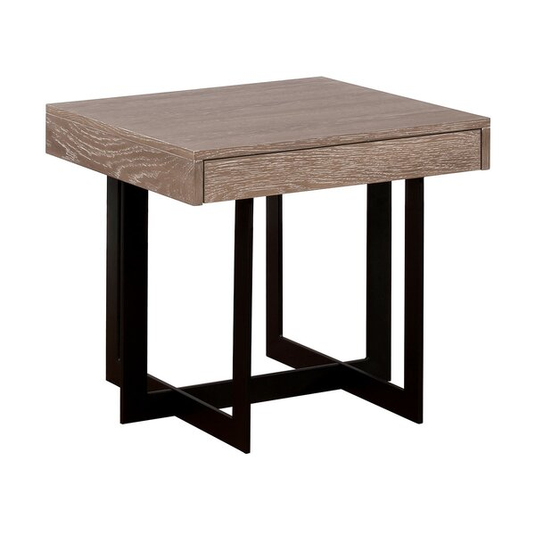 Mitchell End Table with Storage by Williston Forge