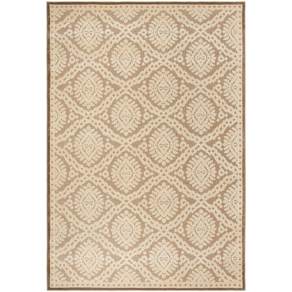 Hand-Loomed Taupe/Beige Area Rug by Martha Stewart Rugs