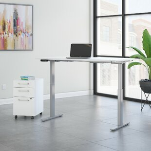 Reviews Move 60 Series Height Adjustable Standing Desk with Storage ByBush Business Furniture