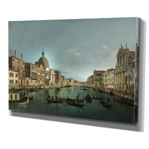 Venice The Grand Canal by Canaletto Print of Painting on Wrapped Canvas by Wexford Home