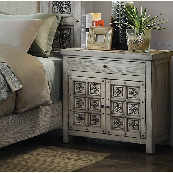 Balfour Falls 1 Drawer Nightstand by Bungalow Rose