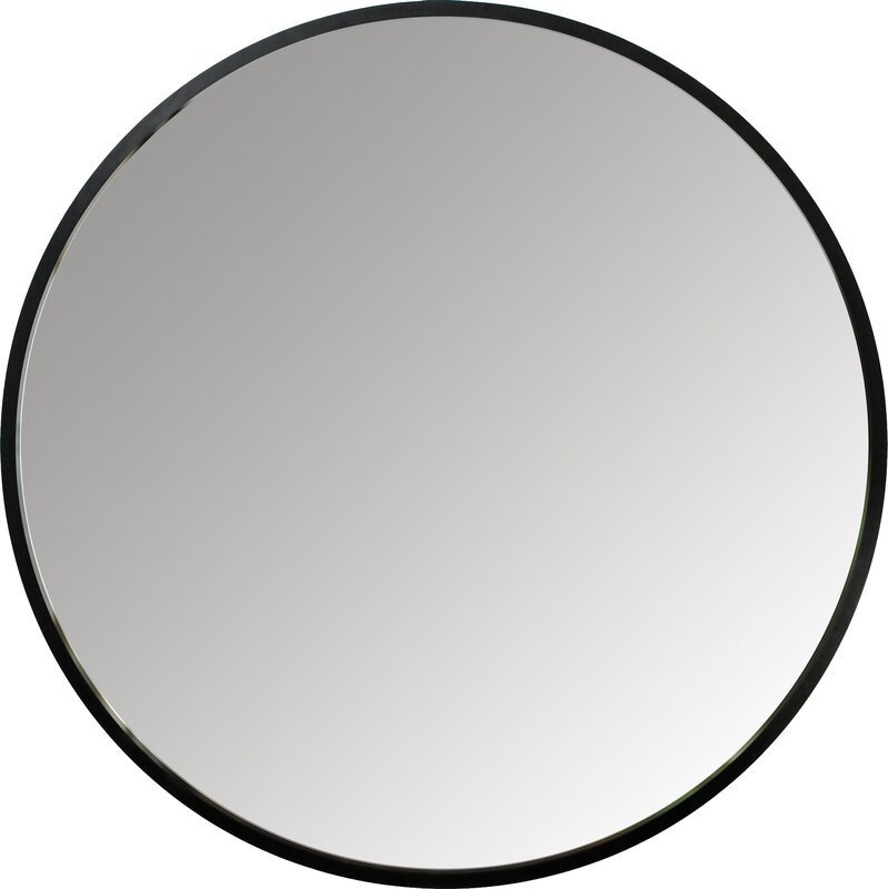 Round minimal modern farmhouse Wall Mirror