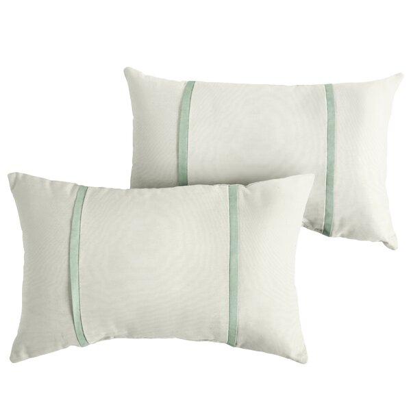 Folse Indoor/Outdoor Sunbrella Lumbar Pillow (Set of 2) by Charlton Home