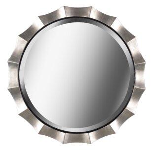 Bay Isle Home Round Silver Wall Mirror