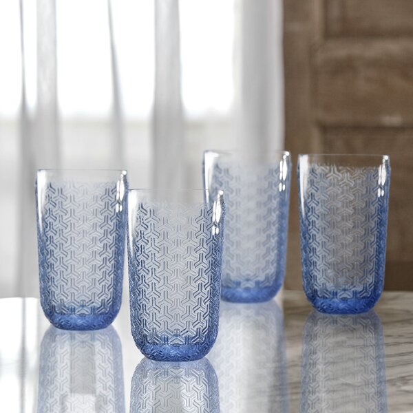 Bistro Key Glass Highball Glass (Set of 4) by Elle Decor