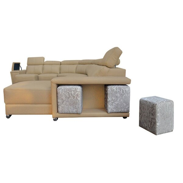 Banker Leather Sectional by Latitude Run