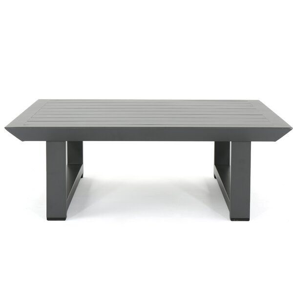 Fricks Rust-Proof Aluminum Coffee Table by Charlton Home