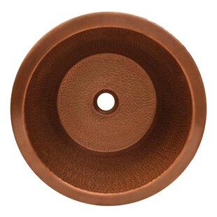Reviews Copperhaus Ceramic Circular Vessel Bathroom Sink ByWhitehaus Collection