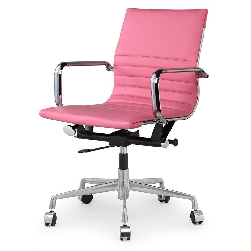 Meelano Vegan Leather Office Chair & Reviews   Wayfair