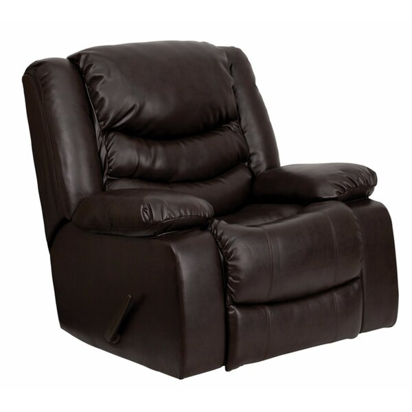 Hardrick Leather Manual Rocker Recliner RBSD3190