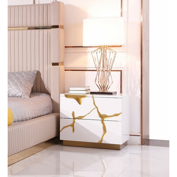 Longmeadow 2 Drawer Nightstand by Everly Quinn