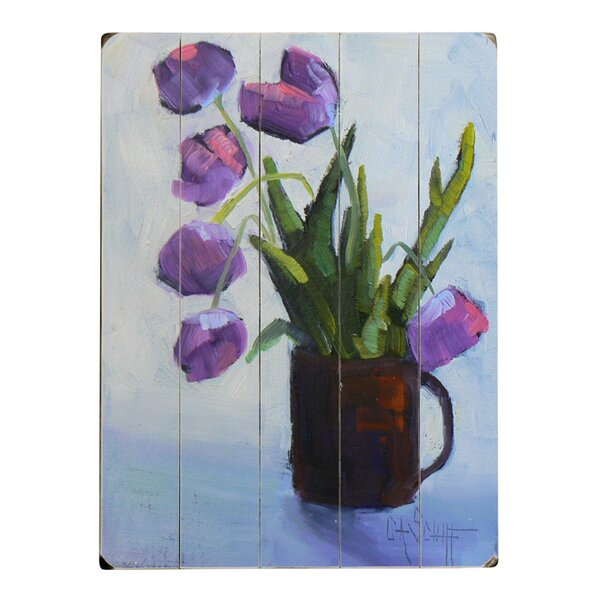 Tulip Graphic Art on Wood by Artehouse LLC