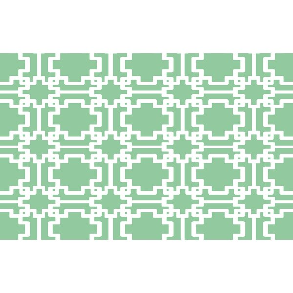 Modern Geometric Mint Rug by Manual Woodworkers & Weavers