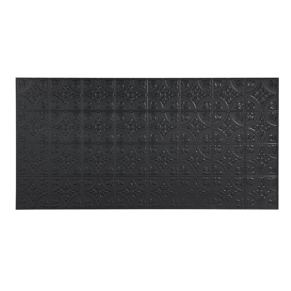 Traditional 48 x 96 PVC Backsplash Panel in Black by Fasade