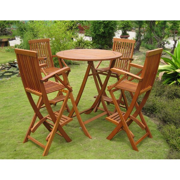 Hamza 5 Piece Bar Height Dining Set by Millwood Pines