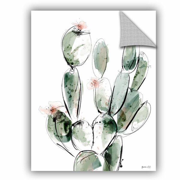 Green Lili Prickly-Pear Wall Decal by ArtWall