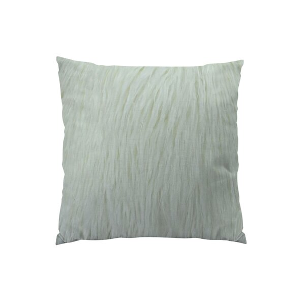 Curly Mongolian Fur Handmade Throw Pillow by Plutus Brands