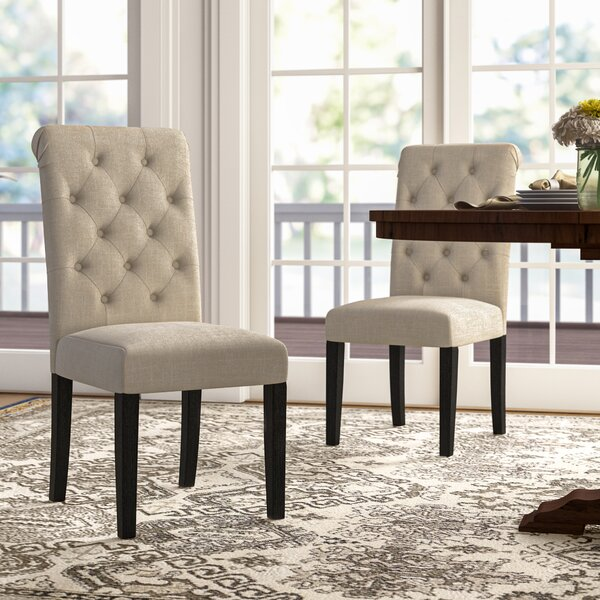 Evelin Tufted Upholstered Parsons Dining Chair (Set of 2) by Charlton Home Charlton Home®