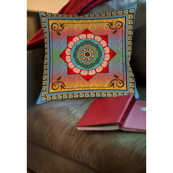 Mexican Summer Printed Throw Pillow by Manual Woodworkers & Weavers